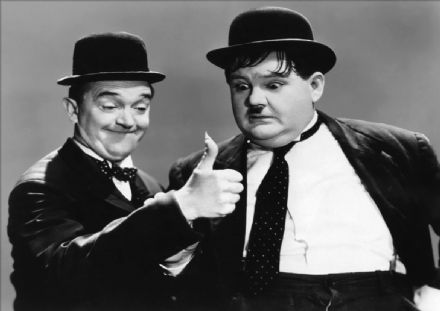Laurel (Stan) and Hardy (Oliver). Vintage Film/Movie Print/Poster. Sizes: A4/A3/A2/A1 (002378)